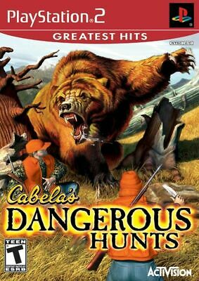 Cabela's Dangerous Hunts (Playstation 2, PS2, Greatest Hits) Ships in 12 hours!!