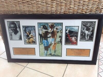 Bobby Moore & Pele Framed Photo Montage