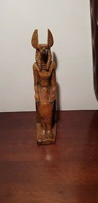 Rare Antique Ancient Egyptian Statue God Anubis jackal embalming1870-1780BC