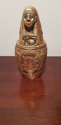 Rare Antique Ancient Egyptian Canopic jar god NeithImsety mummy liver1760-1680BC