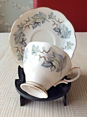 Royal Albert Silver Maple Pattern  Cup & Saucer