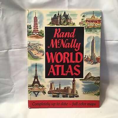 Rand Mcnally World Atlas Map Vintage Hardcover Book