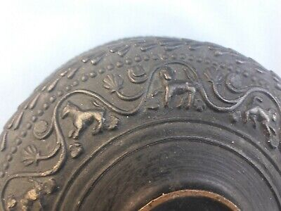Antique Bronze ? Bowl Asian / Oriental ? with Decoration - Very old Interesting