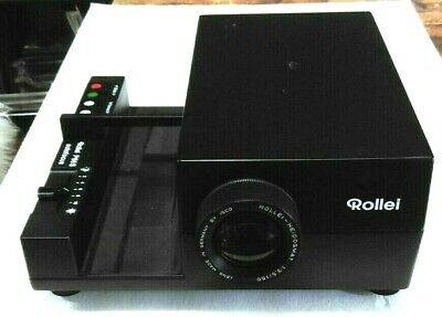 Rollei P66S Autofocus 6X6 Slide Projector With 7 Magazines And Remote