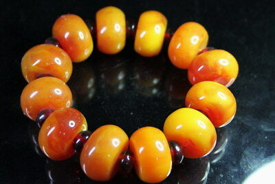 China Decoration Amber Natural Bead String Texture Stretch Delicate Bracelet