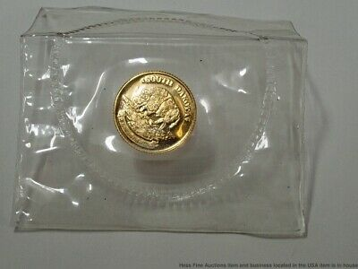 Rare 1988 South Dakota Bison 11mm Fine .999 Gold Coin One One Tenth Ounce 1/10oz