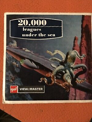 20,000 Leagues Under The Sea View Master Disc Set Original Packaging 50s 60s