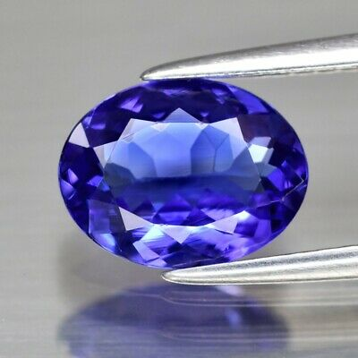 Rare! 1.44ct 9x6.8mm IF Clean Oval Natural AAA D-Block Violet Blue Tanzanite