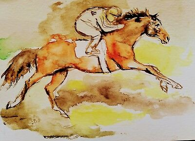 Equestrian art. Original painting,Horse lover gift.Horse riding.Equine.Wall deco