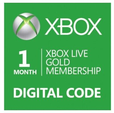 1 Month Xbox Live Gold Membership Digital Codes FAST *Email Delivery*