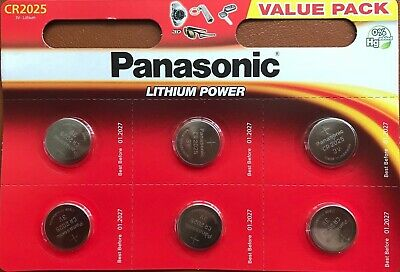 Panasonic 6x CR2025 Lithium Coin Cell 3V Battery Car Key Fobs Toys PAN CR2025