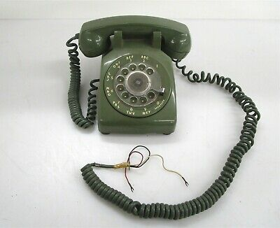 Vintage Bell System Made By Wester Electric Rotary Telephone Hardwire Green