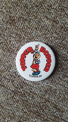 Topper Bopper 1989 Pin Badge - Topper Comic
