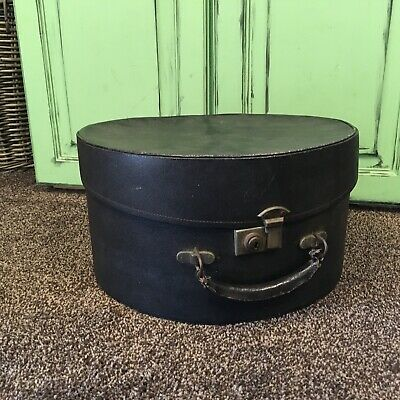Vintage Black Hat Case Box