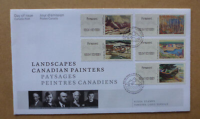 2016 Canada Painters Kiosk Stamps Set Of 5 Stamps First Day Cover Fdc