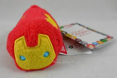 New Authentic Disney Store Marvel Avengers Iron Man Tsum Mini Afelpado 8.9cm