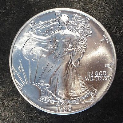 1989 Uncirculated American Silver Eagle US Mint Issue 1oz Pure Silver #G051