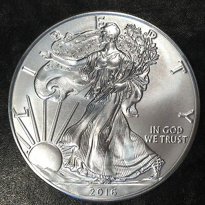 2016 Uncirculated American Silver Eagle US Mint Issue 1oz Pure Silver #G913