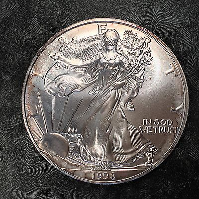 1998 Uncirculated American Silver Eagle US Mint Issue 1oz Silver BLEMISH #E688