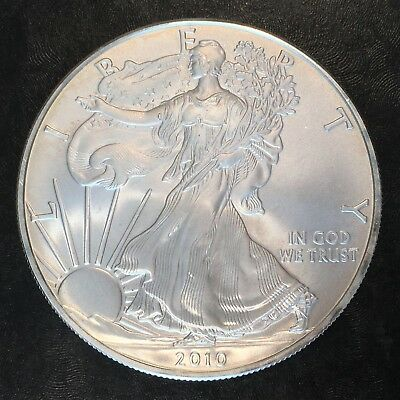 2010 Uncirculated American Silver Eagle US Mint Issue 1oz Pure Silver #H227