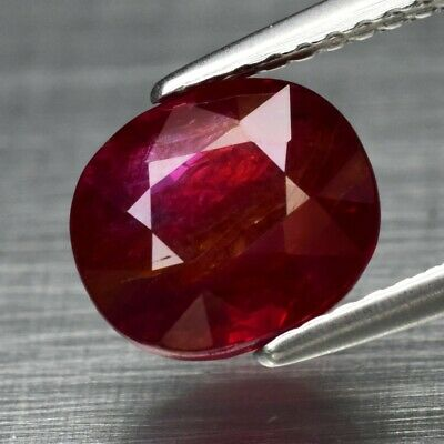 Big Rare! 3.04ct 8.3x7.4mm Oval Natural Unheated Untreated Red Ruby, Mozambique