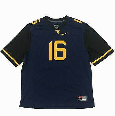 232e2718b Nike Men s West Virginia Mountaineers Football Jersey Size XXL 2XL  16  Authentic