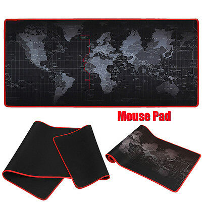 Large Size Anti-Slip World Map Speed Gaming Game Mouse Pad Mat for Laptop PC New