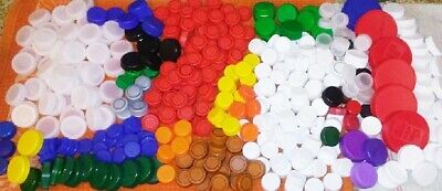 HUGE Lot Of Over 400 CLEAN Plastic Bottle Caps - Great For Crafts