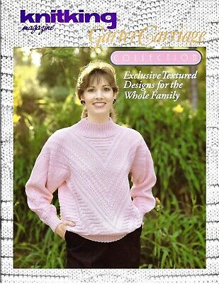 GARTER CARRIAGE COLLECTION  & DISK by Knitking Magazine  - 15 Patterns