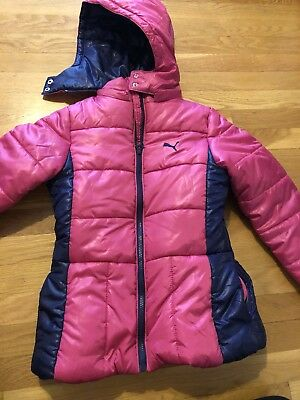 d67ca8787de3 GIRLS puma Youth Size M Coat Jacket puffer puffy style hot pink nwt