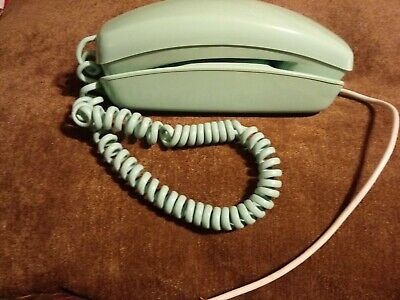 Vintage Trimline Aqua Bell Systems Western Electric Rotary Telephone Phone