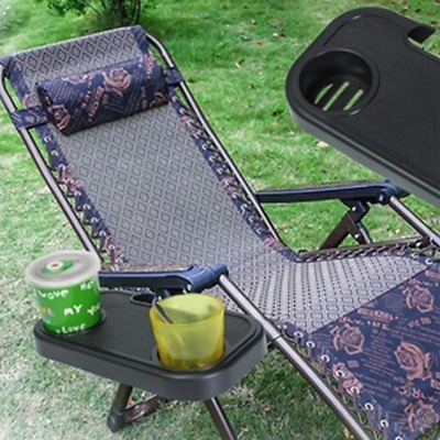 Outdoor Portable Folding Camping Picnic Beach Garden Chair Side Tray For Drink