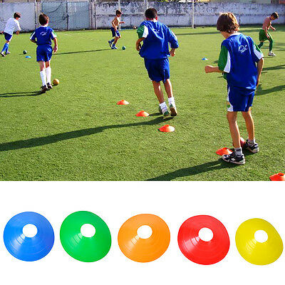 10pcs Football Rugby Sports Cross Training Space Marker Soccer Disc Cones Saucer