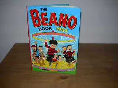 THE BEANO BOOK ANNUAL 1992 (UNCLIPPED) - Very Good Condition -