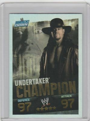 "2008 WWE TOPPS FOIL ""UNDERTAKER"" SLAM ATTAX WRESTLING TRADING CARD - Good [COND]"