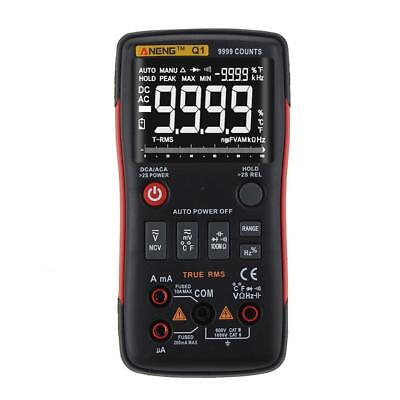 ANENG Q1 True-RMS Digital Multimeter Button 9999 Counts with Analog Bar Graph BE