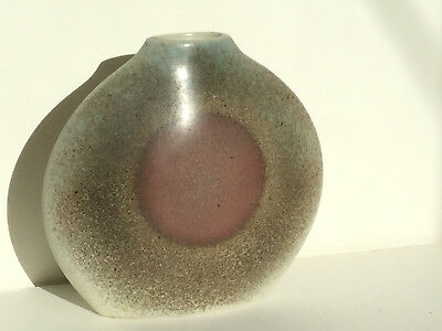 Retro 1980s ceramic French Virebent porcelaine 'art vase'
