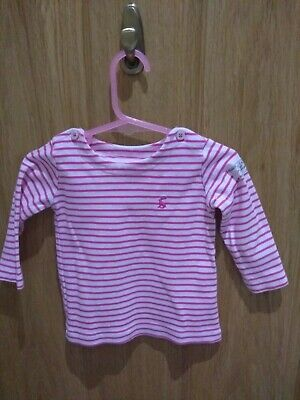 Baby Girls Joules, harbour top 3-6 Months Long Sleeve Top