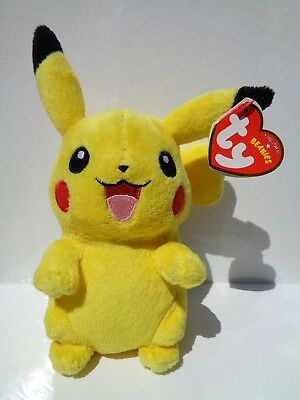 TY PIKACHU POKEMON BEANIE BABY ~ MINT with MINT TAGS ~ UK EXCLUSIVE ... 8577df778c00