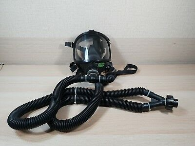 Martindale Long Hose Pipe Full Face Gas Mask Air Respirator Unused No Tank 1998