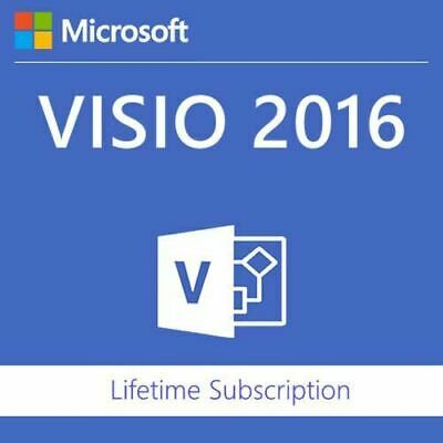Microsoft Visio 2016 PROFESSIONAL MS Pro Original Product Key Full Version-1pc