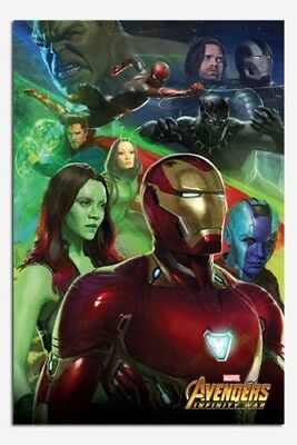 Avengers Infinity Guerre Fer Homme Affiche Neuf - Maxi Taille 91.4x61cm