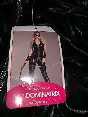 Ann Summers Miss Dominatrix Catsuit / All In One. Size 12