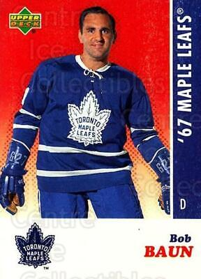 2007 Toronto Maple Leafs 1967 Commemorative #1 Bob Baun