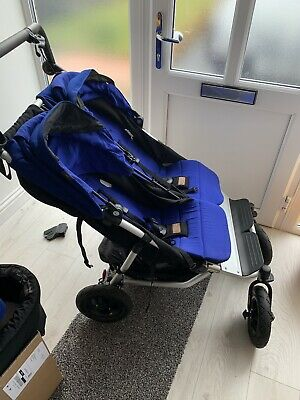Mountain Buggy Duet Double Buggy Blue With Family pack