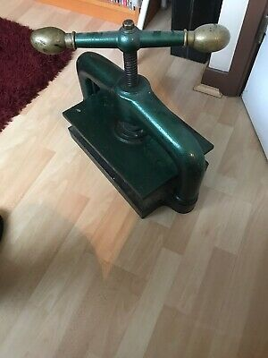 Bookbinding Press. Steel And Cast Iron. Working Condition