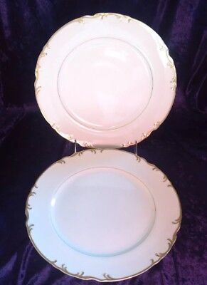 "Set of 2 Mikasa Fine China Japan ""Venice"" 9266 Dinner Plate 10 1/2"" Very Good"