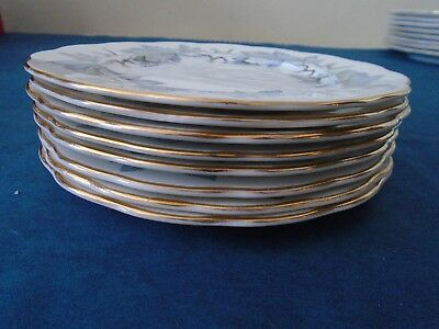 Silver Maple by Royal Albert - Eight Side Plates Excellent Condition