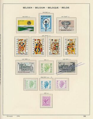XB41265 Belgium 1973 nice lot of good stamps MNH fv 58 BEF