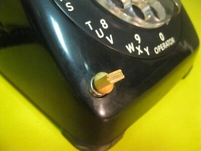 """1960s Automatic Electric ROTARY TELEPHONE """"OFF HOOK"""" feature ~ NICE DISPLAY!"""
